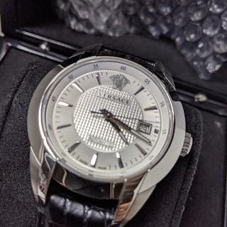 ヴェルサーチ(VERSACE)のヴェルサーチ VERSACE メンズ 25A3 ホワイト 箱 ギャラ 完品 美品(腕時計(アナログ))