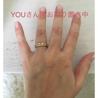 エタニティリング ダイヤ0.3ct イエローゴールド 13号&ピアス(リング(指輪))