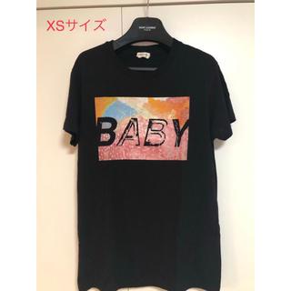サンローラン(Saint Laurent)のSAINT LAURENT PARIS BABY Tシャツ 色 黒 XS(Tシャツ/カットソー(半袖/袖なし))