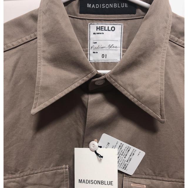 MADISONBLUE(マディソンブルー)のMADISONBLUE マディソンブルー  シャツ レディースのトップス(シャツ/ブラウス(長袖/七分))の商品写真