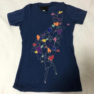 マークバイマークジェイコブス(MARC BY MARC JACOBS)のマークジェイコブス☆新品 Tシャツ Sサイズ 紺色 ハート(Tシャツ(半袖/袖なし))