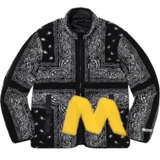 シュプリーム(Supreme)のsupreme bandana fleece jacket black(ブルゾン)