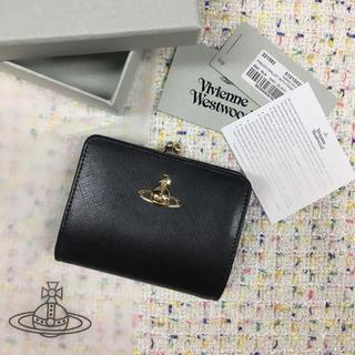 Vivienne Westwood - ◆定番セール Vivienne Westwood 無地 がま口財布 ブラック