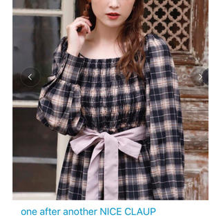 one after another NICE CLAUP - NICE CLAUP ナイスクラップ♡シャーリング ティアード ワンピース新品