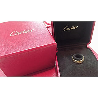 カルティエ(Cartier)のCartier☆正規品 ラブリング カルティエ ゴールド 指輪(リング(指輪))