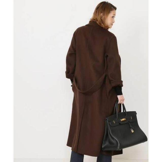 DEUXIEME CLASSE(ドゥーズィエムクラス)のドゥーズイエムクラス ブラウンコート レディースのジャケット/アウター(ロングコート)の商品写真