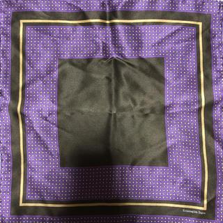 エルメネジルドゼニア(Ermenegildo Zegna)のゼニア ポケットチーフ シルク 美品(ハンカチ/ポケットチーフ)