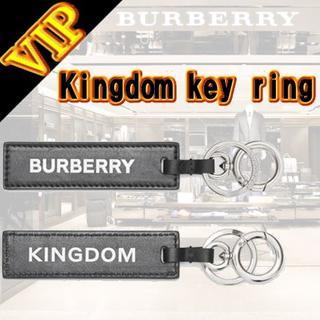 バーバリー(BURBERRY)のBurberry キングダムプリント レザーキーリング(キーホルダー)