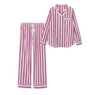 新品GUストライプpinkパジャマ/セットアップ XL