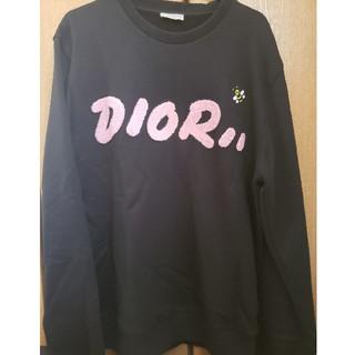 ディオール(Dior)のDIOR X KAWS コットン トレーナー ネイビー ピンク(スウェット)