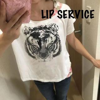 リップサービス(LIP SERVICE)のLIP SERVICE BIGプリントTシャツ(Tシャツ(半袖/袖なし))