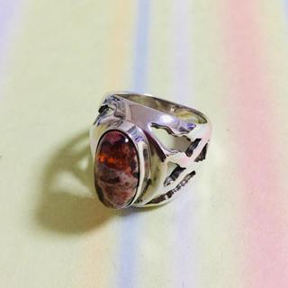 オパール 原石 シルバー925 リング 天然石 誕生石 opal 蛋白生(リング(指輪))