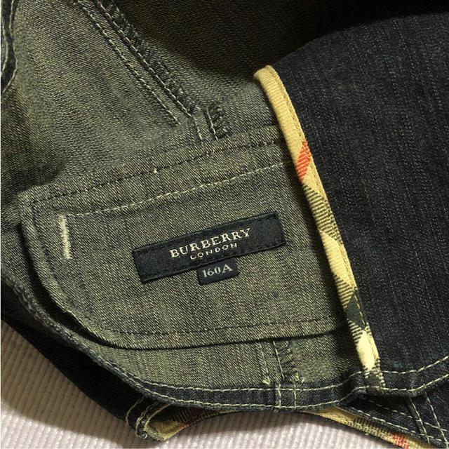 BURBERRY(バーバリー)の【お値下げ中】 バーバリー デニム ベスト 160 キッズ/ベビー/マタニティのキッズ服 女の子用(90cm~)(カーディガン)の商品写真
