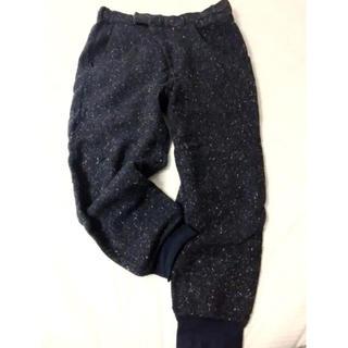 Dulcamara - Dulcamara / ウールパンツ 裾リブ サイズ表記2 ネイビー