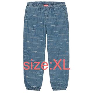 Supreme - Dimensions Logo Denim Skate Pant Blue XL