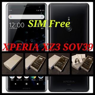 SONY - 【SIMフリー/新品未使用】au Xperia XZ3 SOV39/ブラック