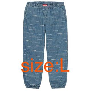 シュプリーム(Supreme)のDimensions Logo Denim Skate Pant Blue L(ワークパンツ/カーゴパンツ)
