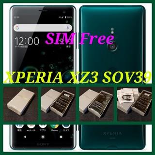 SONY - 【SIMフリー/新品未使用】au Xperia XZ3 SOV39/グリーン