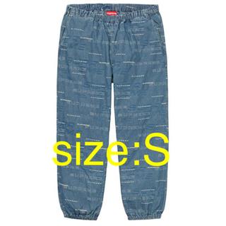 シュプリーム(Supreme)のDimensions Logo Denim Skate Pant Blue S(ワークパンツ/カーゴパンツ)