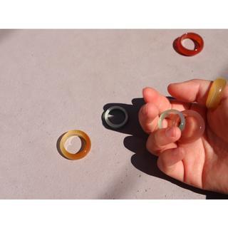トゥデイフル(TODAYFUL)のglass ring(リング(指輪))