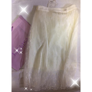 【LIZLISA】新品未使用ドット白スカート