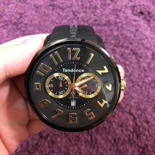 テンデンス(Tendence)のTendence 腕時計 クロノグラフ ブラック(腕時計(アナログ))