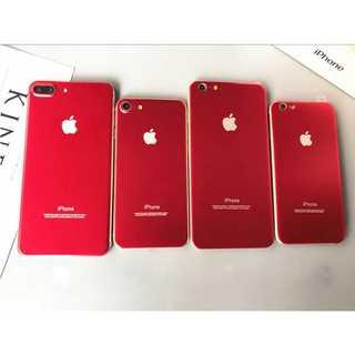 iPhone6Plus/6sPlusレッド 全面保護 チタンフレーム 背面 Po