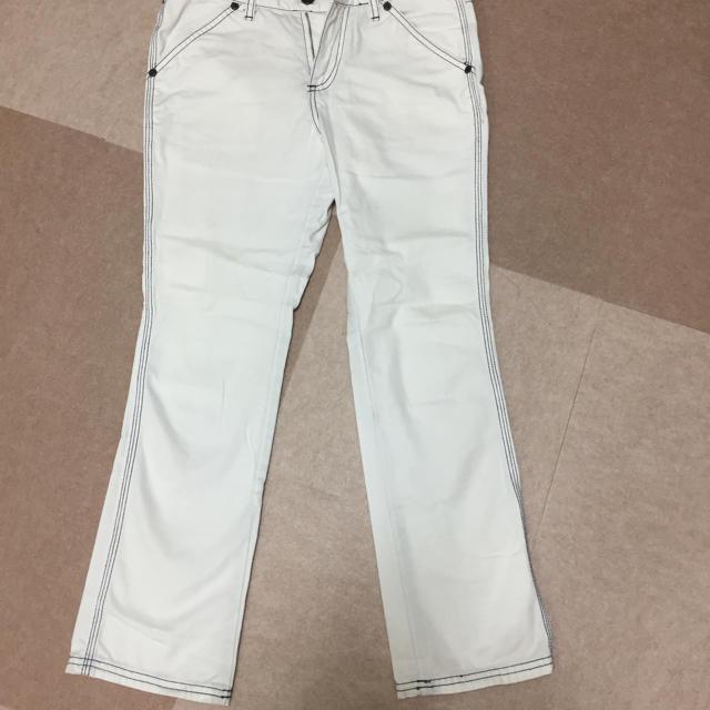 POLO RALPH LAUREN(ポロラルフローレン)のラルフローレン  ホワイト デニムパンツ レディースのパンツ(デニム/ジーンズ)の商品写真