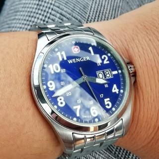 ウェンガー(Wenger)のメンズ腕時計 WENGER 電池新品!(腕時計(アナログ))