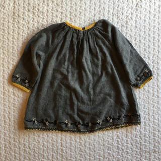 キャラメルベビー&チャイルド(Caramel baby&child )のCaramel Baby&child 花柄 刺繍 ワンピース 18m(ワンピース)