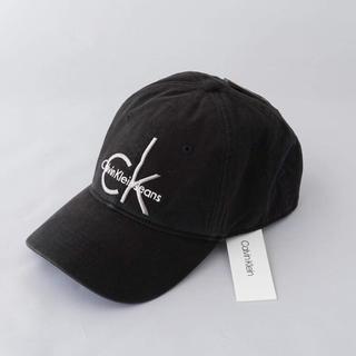 カルバンクライン(Calvin Klein)のCK カルバンクライン 黒のジーンズキャップ (キャップ)