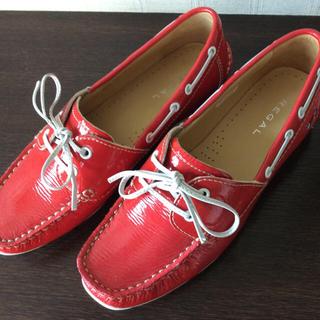 リーガル(REGAL)のリーガルREGAL デッキシューズ  24.5(ローファー/革靴)