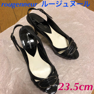 マルイ(マルイ)のルージュヌール 黒サンダル 23.5cm(サンダル)