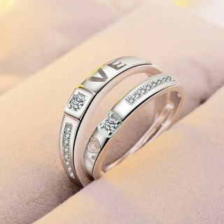 即日発送⭐記念日 誕生日に 2個セット❤️シルバー925ペアリング フリーサイズ(リング(指輪))