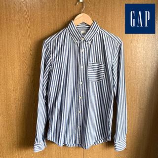 ギャップ(GAP)のGAP ストライプデニムシャツ ホワイト×ネイビー(シャツ)