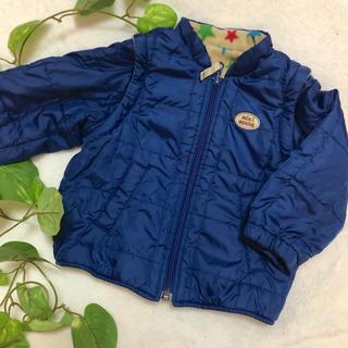 ミキハウス(mikihouse)のミキハウス 青のリバーシブルジャンパー 80(ジャケット/コート)