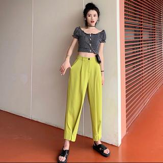 Ameri VINTAGE - 本日限定価格!☺︎完売商品☺︎ カラーパンツ パンツ 緑