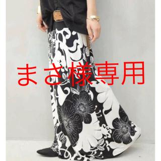 アンティカ(antiqua)の専用☆アンティカ 2way 花柄 ロングスカート ブラック系(ロングスカート)