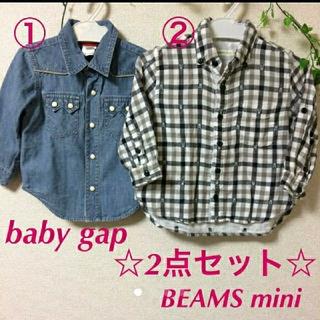 コドモビームス(こども ビームス)の☆セット売り☆BEAMS mini シャツ baby gap 90(その他)