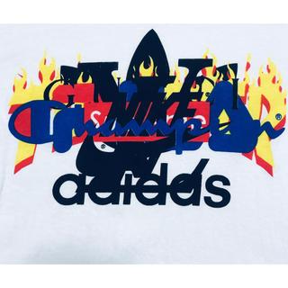 adidas - 【早い者勝ち】ブランドロゴ パロディT