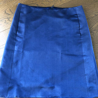 ドゥロワー(Drawer)のドゥロワー  シルクネイビースカート  36(ひざ丈スカート)