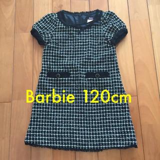 バービー(Barbie)の【美品】120cm Barbie ツイード ワンピース(ワンピース)