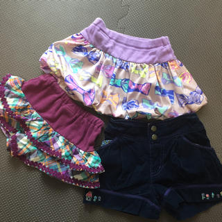 ANNA SUI mini - ANNA SUI mini キュロット スカート ショートパンツ 80