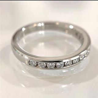 Tiffany & Co. - ティファニー ハーフサークル ダイヤモンドリング Pt950 15p 8号