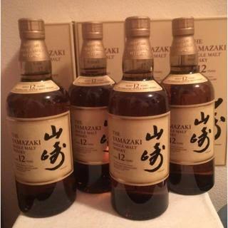 サントリー(サントリー)の【4本】シングルモルトウイスキー山崎12年 700ml(ウイスキー)