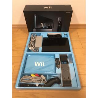 Wii - 【任天堂 純正品】Wii 本体 (ブラック)一式・ソフトセット