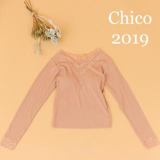 who's who Chico - 新品タグ付き❤︎カップ付きレースロンT