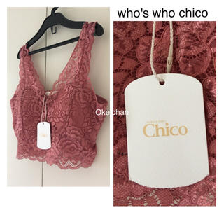 who's who Chico - 今季19新作☆レースブラレット ピンク