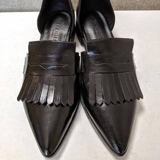 ランダ(RANDA)のレディースシューズ CAMILLE BIS RANDA  黒色+白色 23.0(ローファー/革靴)