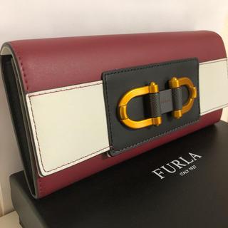 フルラ(Furla)の【新品未使用 】FURLA フルラ 長財布 ウォレット ダークレッド(財布)